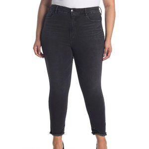 Good American Good Curve Crop Raw Hem Jeans